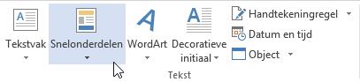 Autoteksten in Word 03