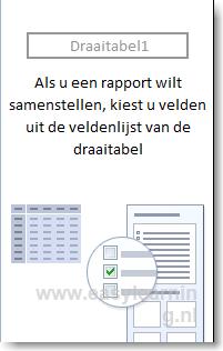 Draaitabellen in Excel maken 01 - Excel 2010