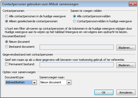 Etiketten maken in Word 2010 04