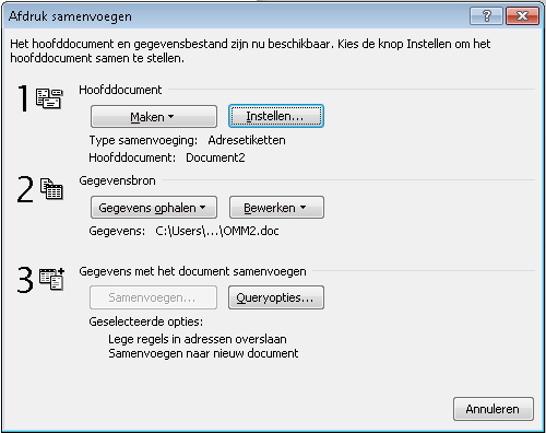 Etiketten maken in Word 2010 05