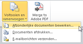 Etiketten maken in Word 2010