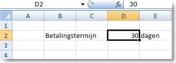 Excel formule vaste waarde uit ander werkblad 03