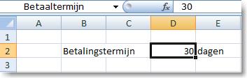 Excel formule vaste waarde uit ander werkblad 04