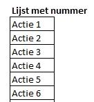 Excel training - Reeksen nummers doorvoeren 03