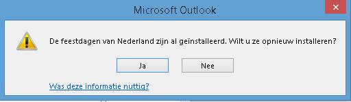 Feestdagen toevoegen in Outlook 06