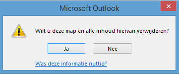 Map verwijderen Outlook