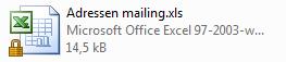 Outlook tip exporteren adressen naar Excel 11