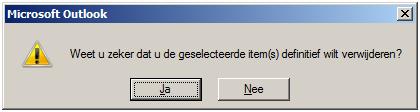 Postvak Outlook opruimen 07