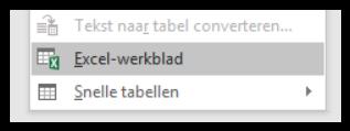 Rekenen in Word kolom met Excel 02