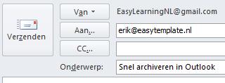 Snel archiveren Outlook