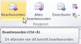 sneltoets mail beantwoorden easy learning