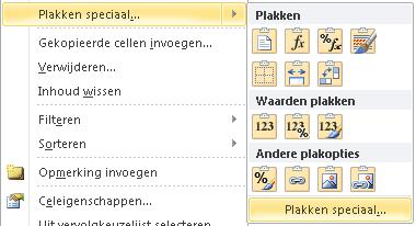 Speciaal plakken in Excel 05