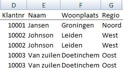 Subtotalen in Excel zonder formules 01
