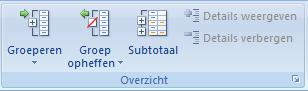 Subtotalen in Excel zonder formules 03