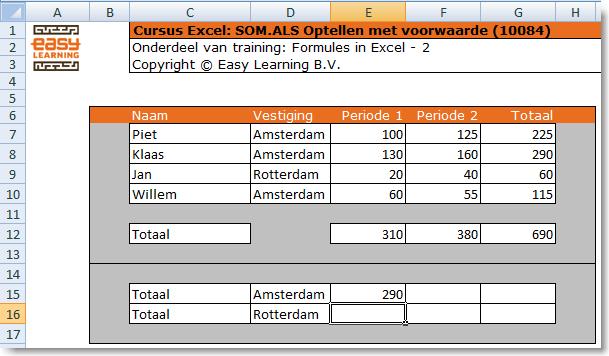 excel cursus formules SOM.ALS 01